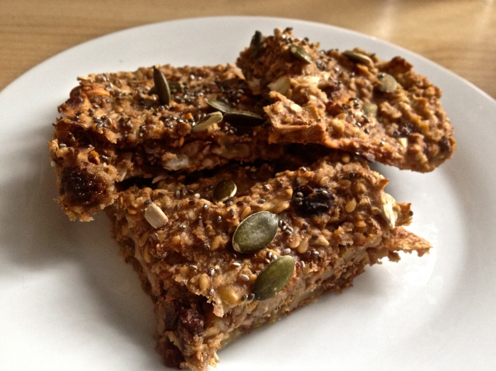 Healthy, vegan flapjacks